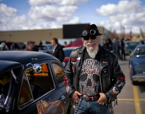 Friend Terry at the Calgary Spring Thaw Car Show
