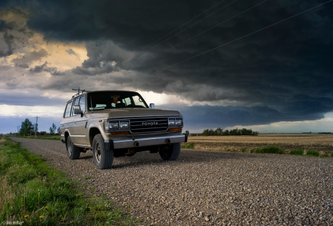 wicked skies and a 1988 Toyota fj62 land cruiser
