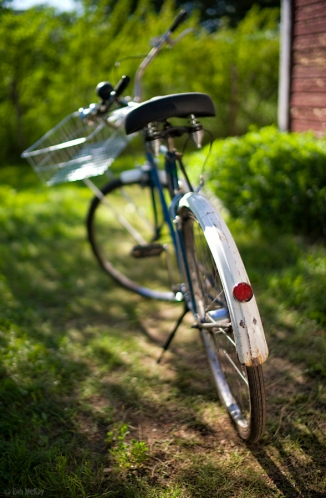 Bokeh Color Bike + Basket