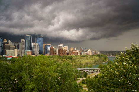 Storm clouds over Calgary, Alberta