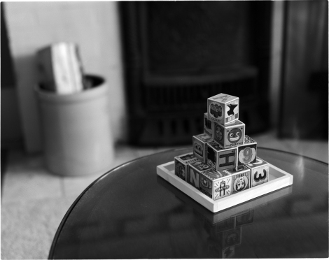 4x5 Film Scan Black & White Blocks