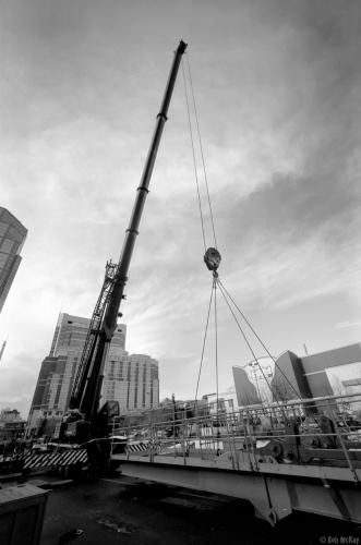 Large City Crane, Calgary Alberta