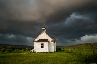 Little White Church, Alberta Badlands