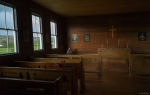 Inside little White Church, Alberta Badlands