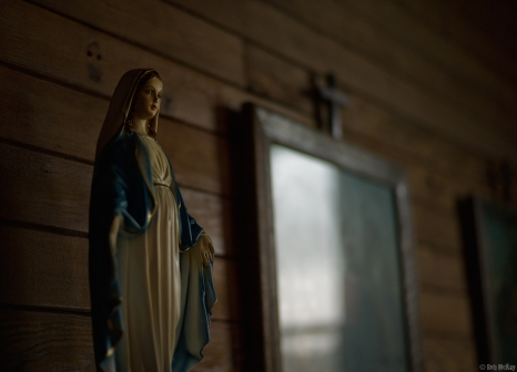 Inside little White Church, Alberta Badlands