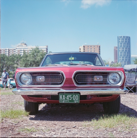 1968 Plymouth Barracuda via Rolleiflex and Kodak Portra 400 film
