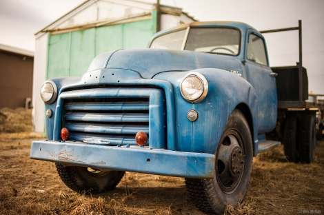 Vintage GMC truck, small town Alberta