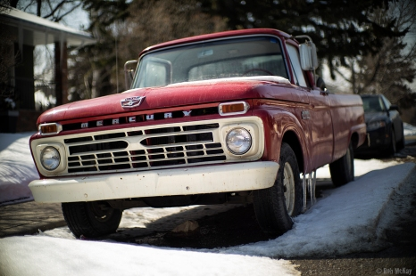 Vintage Red Mercury Pickup Truck