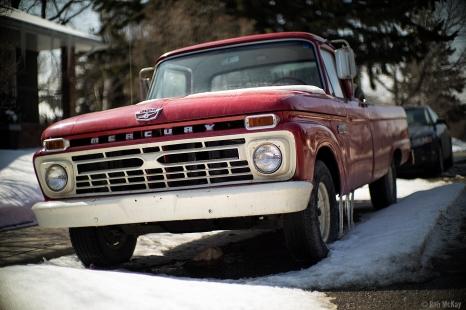 Vintage Red Mercury Pickup Truck