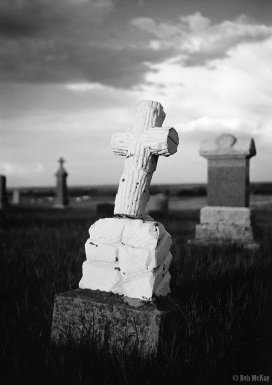 Graveyard headstone, Leica MP
