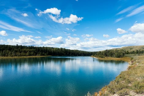 A photo of the Bow River in the Bow River Valley on a recent bike ride using the Sony RX100 III